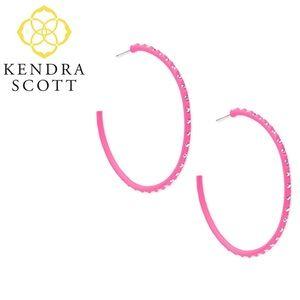 Kendra Scott VAL Hoop Earrings Pink Matte